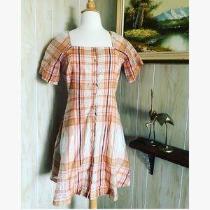 Madewell • Plaid Midi Dress